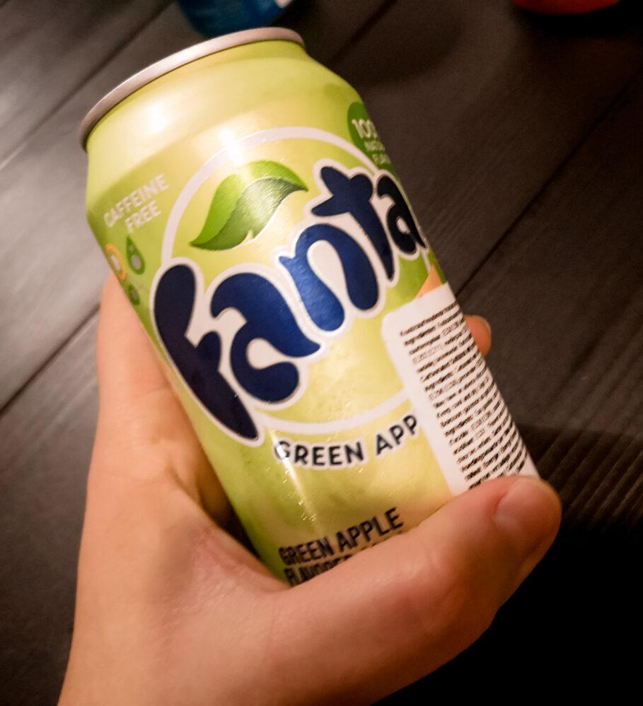 6 verschillende Fanta smaken | Fanta - Green apple / Groene appel