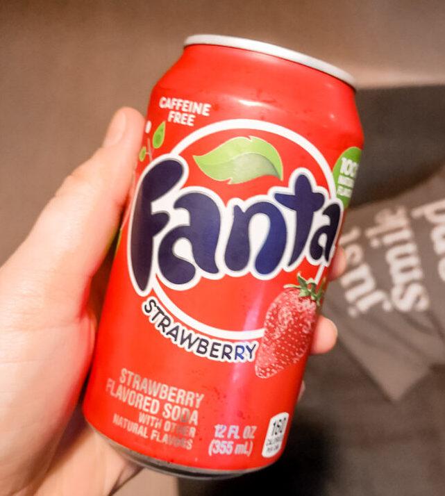 6 verschillende Fanta smaken | Fanta - Aardbei