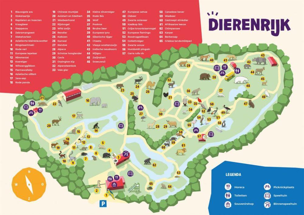 Dierenrijk - Plattegrond   10 leuke speeltuinen in Gelderland & Noord-Brabant