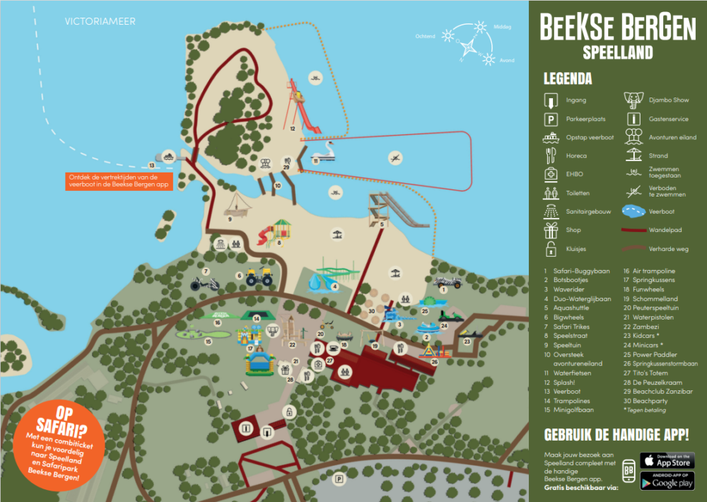 Speelland Beekse bergen - Plattegrond   10 leuke speeltuinen in Gelderland & Noord-Brabant