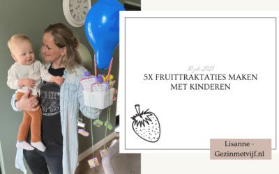 5xfruittraktatiesmaken met kinderen